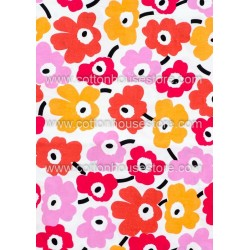 Cotton Fabric 30015-X Flower Pink 62mmx61mm 1m