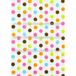 Cotton Fabric 30022-X Dots Colorful 15mm 1m