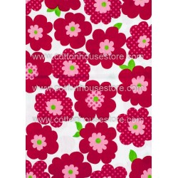 Cotton Fabric 30014-X Flower 80mmx75mm 1m