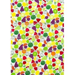 Cotton Fabric 30051-R Fruits 1m