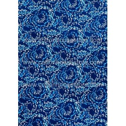 Cotton Fabric 30027-R Swirl Navy Blue BG 1m