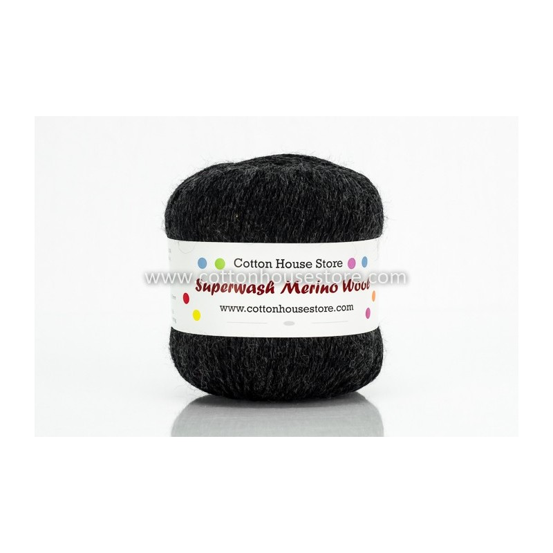 Merino Black Grey 012 100g