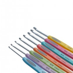 8 pcs Crochet Hook w/Handle Set