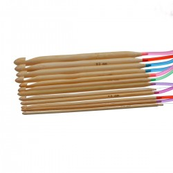 12 Sizes Long Bamboo  Afghan Tunisian Crochet Hooks 3.0-10.0mm
