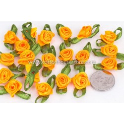Rose Flower Yellow Orange 016