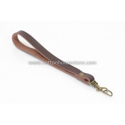 Leather Purse Handle Dark Brown 087 (1pc)