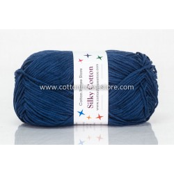 Silky Cotton Navy Blue 030