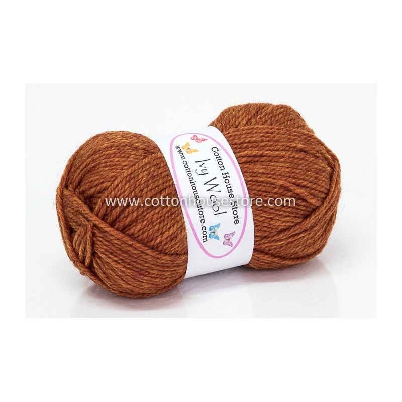 Ivy Wool A26 NEW BROWN 100g