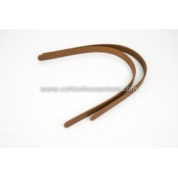 Imitation Leather Handles 156 Black 55cm (2pcs)