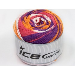 ICE Cakes Cotton White Salmon Purple Orange