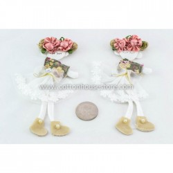 Girl Cream Shoes (2pcs)