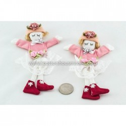 Girl Red Shoes (2pcs)