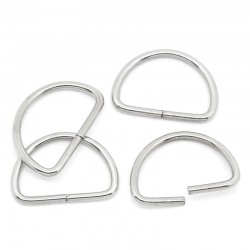 Silver Tone D Ring 13mm x 9mm (10pcs)