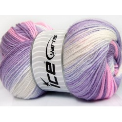 MB Lilac Shades Pink White 50006