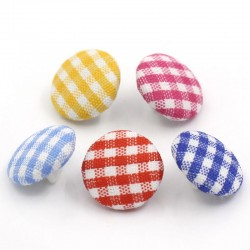 Cloth Gingham Shank Button...