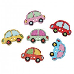 Wood Cars Colorful 10pcs...