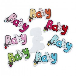 Wood Baby Words 5pcs BUT-084