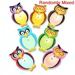 Wood Owl 10pcs BUT-060