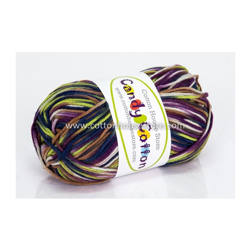 Candy Cotton Purple Green Blue S29