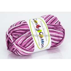 Candy Cotton Purple White S27