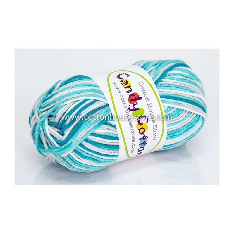 Candy Cotton Green Grey White S26