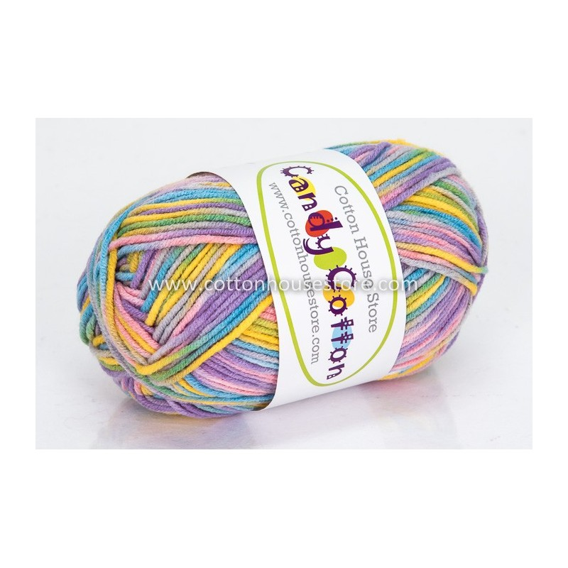Candy Cotton Blue Pink Yellow Green S24