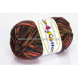 Candy Cotton Dark Brown Green Orange S20