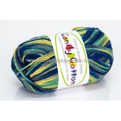 Candy Cotton Blue Green Yellow S19