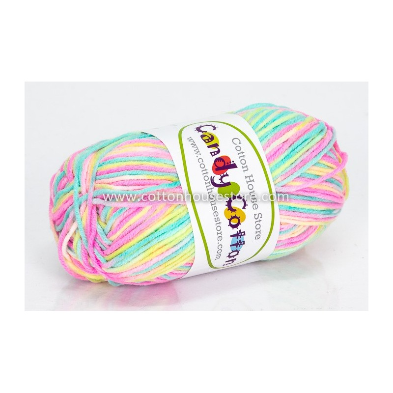 Candy Cotton Mint Green Pink Yellow S11