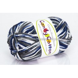 Candy Cotton Grey White Dark Blue S06