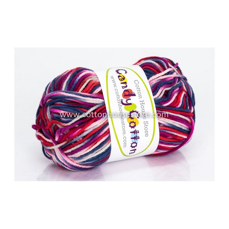 Candy Cotton Blue Red Pink Magenta S05