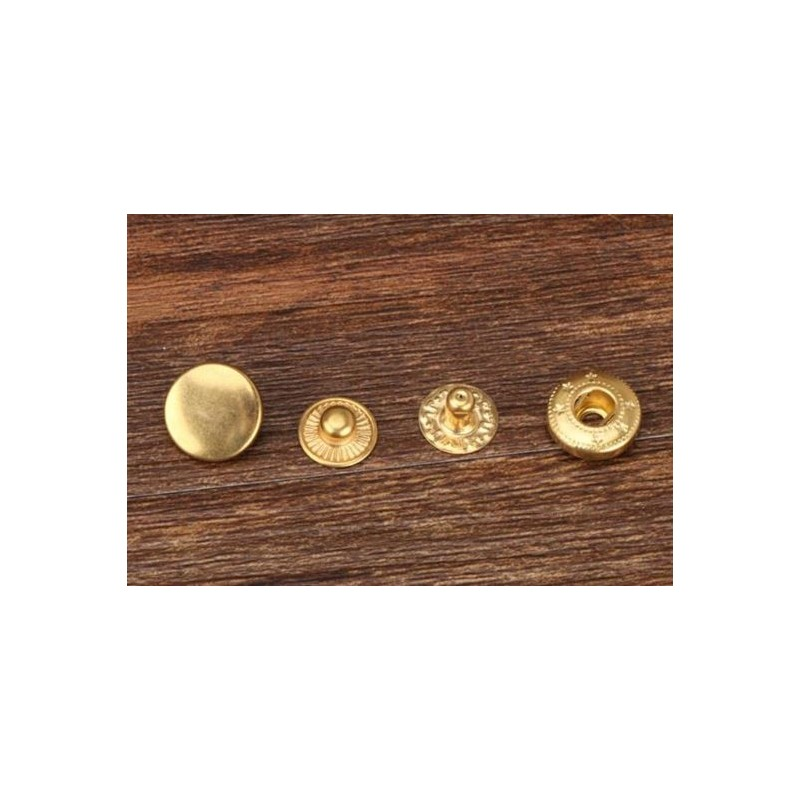 Gold Tone Metal Snap Buckle for bag 1.2cm (4 sets) 198