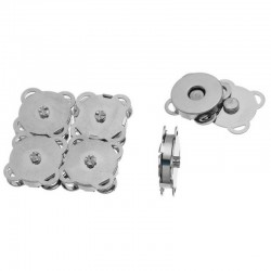 Magnetic Purse Snap Silver Tone 19mm (Sew Type) 2 sets 457