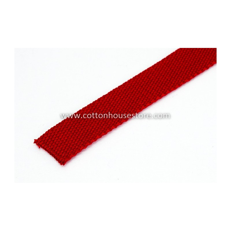 Red Cotton Webbing for Bag 3m 2.5cm, 233