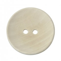 Natural Wood Button 30mm 2 Holes 5pcs BUT-111
