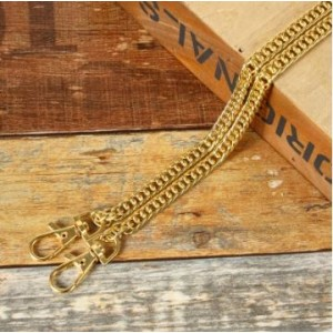 Purse Chain Handle Gold...