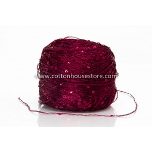 Fine Cotton Deep Red with...