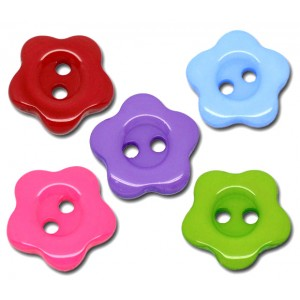Flower Resin Buttons 14mm...