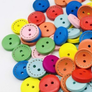 Wood Buttons Dotted Lines...