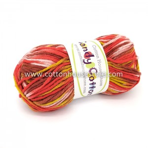 Candy Cotton Red Brown Pink...