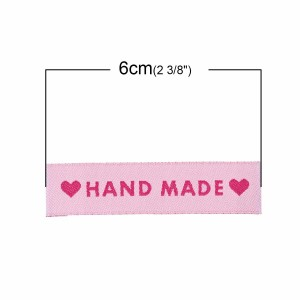 Labels Pink 'Hand Made'...