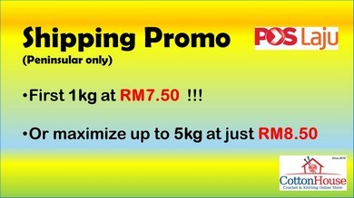 RM8.50 up to 5kg for Peninsular